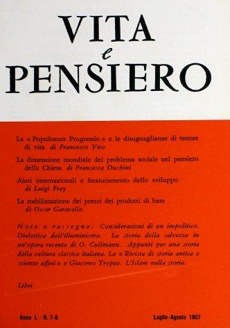 VITA E PENSIERO - 1967 - 7-8