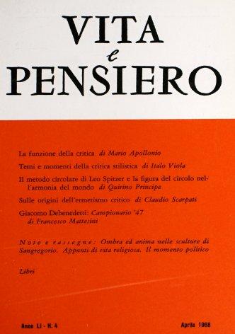VITA E PENSIERO - 1968 - 4
