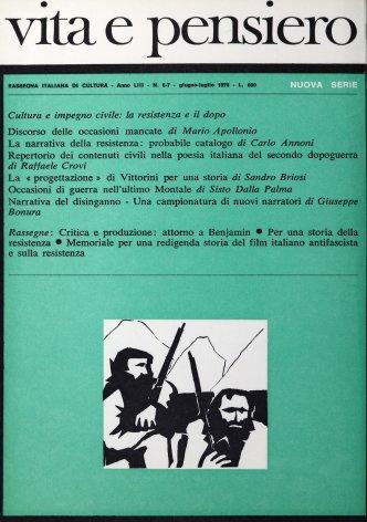 VITA E PENSIERO - 1970 - 6-7