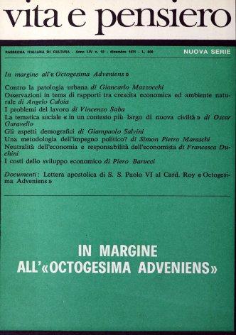 VITA E PENSIERO - 1971 - 12