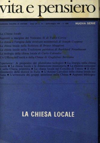 VITA E PENSIERO - 1971 - 4-5