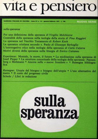 VITA E PENSIERO - 1972 - 1-2