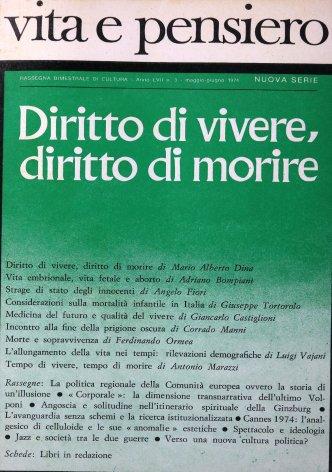 VITA E PENSIERO - 1974 - 3