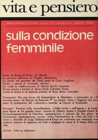 VITA E PENSIERO - 1975 - 3-4