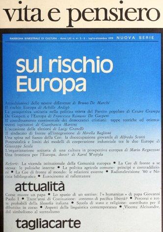 VITA E PENSIERO - 1978 - 4-5-6