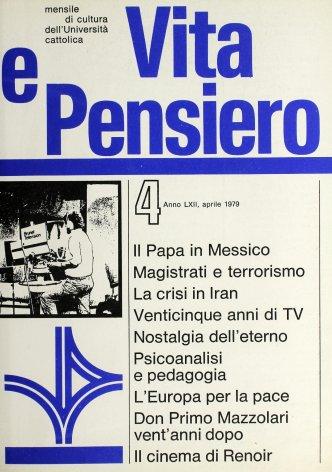 VITA E PENSIERO - 1979 - 4