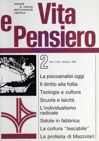 VITA E PENSIERO - 1980 - 2