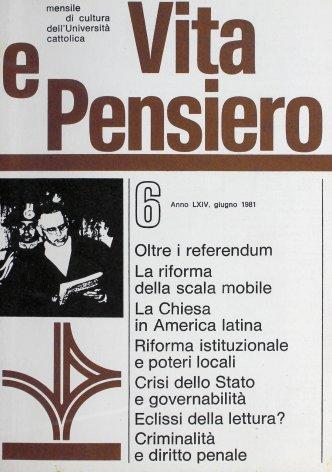 VITA E PENSIERO - 1981 - 6
