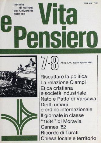 VITA E PENSIERO - 1982 - 7-8