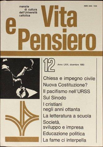 VITA E PENSIERO - 1983 - 12