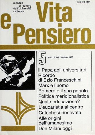 VITA E PENSIERO - 1983 - 5