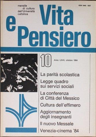 VITA E PENSIERO - 1984 - 10