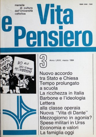 VITA E PENSIERO - 1984 - 3