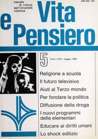 VITA E PENSIERO - 1984 - 5