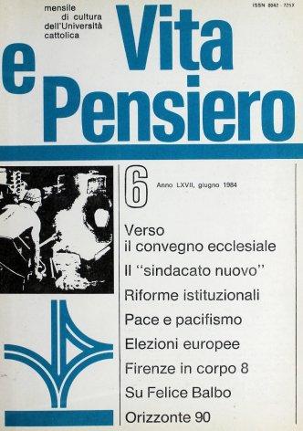 VITA E PENSIERO - 1984 - 6