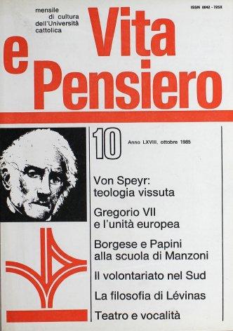 VITA E PENSIERO - 1985 - 10