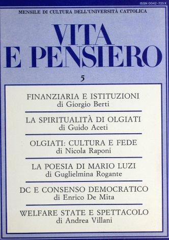 VITA E PENSIERO - 1986 - 5