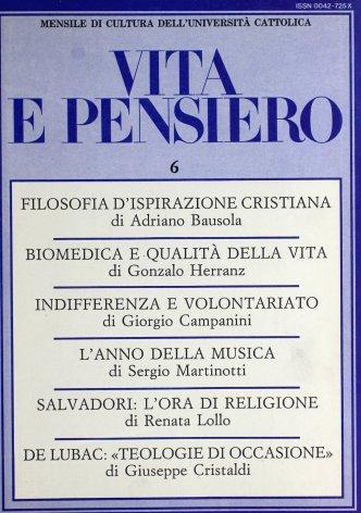 VITA E PENSIERO - 1986 - 6