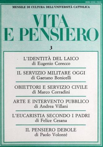 VITA E PENSIERO - 1987 - 3
