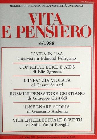 VITA E PENSIERO - 1988 - 6