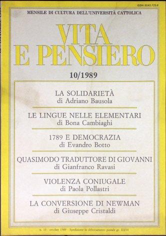 VITA E PENSIERO - 1989 - 10