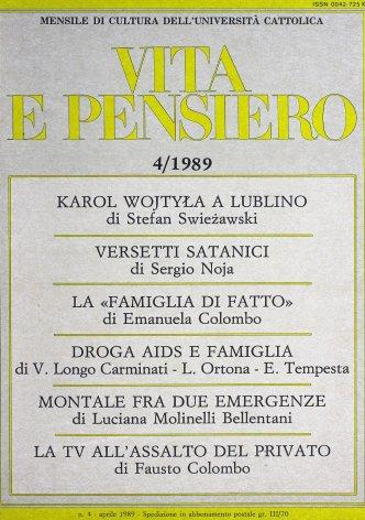 VITA E PENSIERO - 1989 - 4