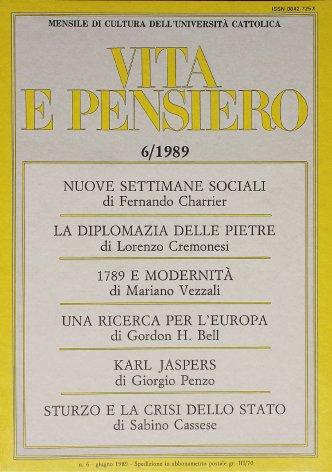 VITA E PENSIERO - 1989 - 6
