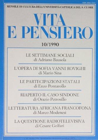 VITA E PENSIERO - 1990 - 10