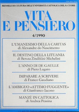 VITA E PENSIERO - 1990 - 4