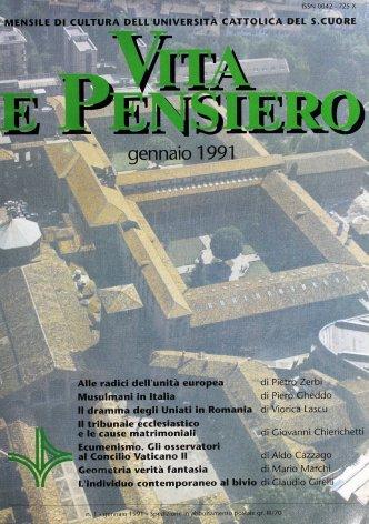 VITA E PENSIERO - 1991 - 1
