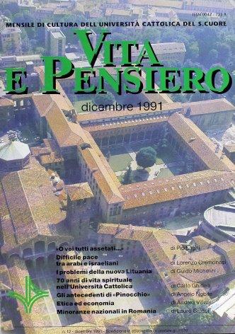 VITA E PENSIERO - 1991 - 12