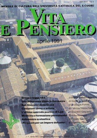 VITA E PENSIERO - 1991 - 4