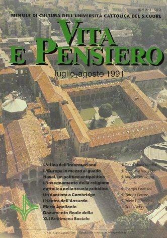 VITA E PENSIERO - 1991 - 7-8