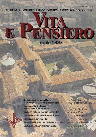 VITA E PENSIERO - 1992 - 4