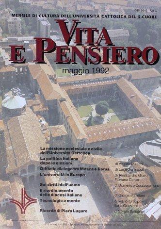 VITA E PENSIERO - 1992 - 5