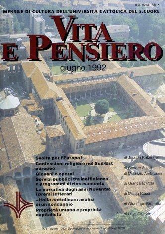 VITA E PENSIERO - 1992 - 6