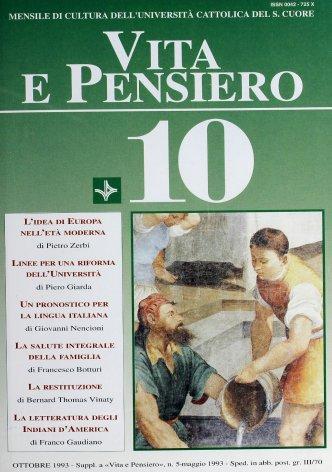 VITA E PENSIERO - 1993 - 10