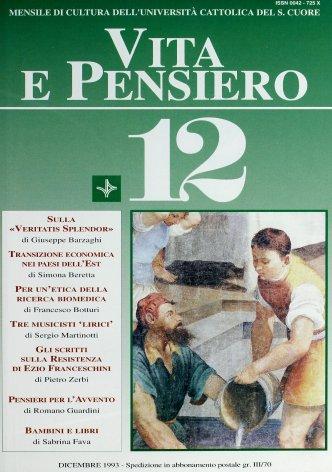VITA E PENSIERO - 1993 - 12