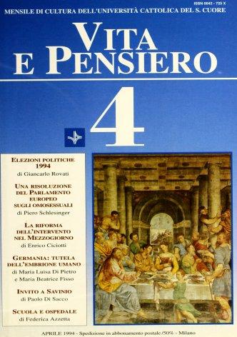 VITA E PENSIERO - 1994 - 4
