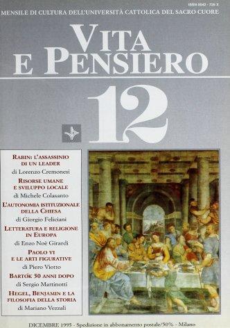 VITA E PENSIERO - 1995 - 12