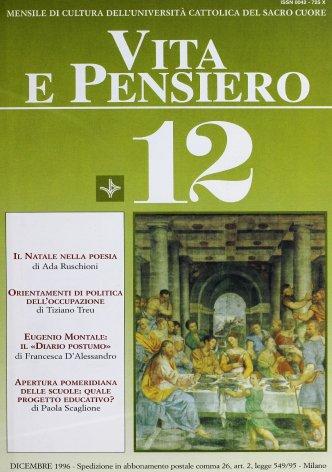 VITA E PENSIERO - 1996 - 12