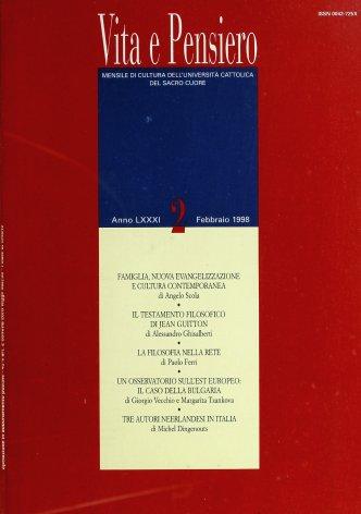 VITA E PENSIERO - 1998 - 2