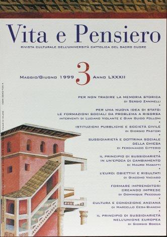 VITA E PENSIERO - 1999 - 3