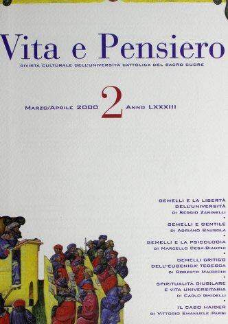 VITA E PENSIERO - 2000 - 2