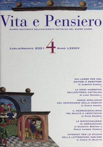 VITA E PENSIERO - 2001 - 4