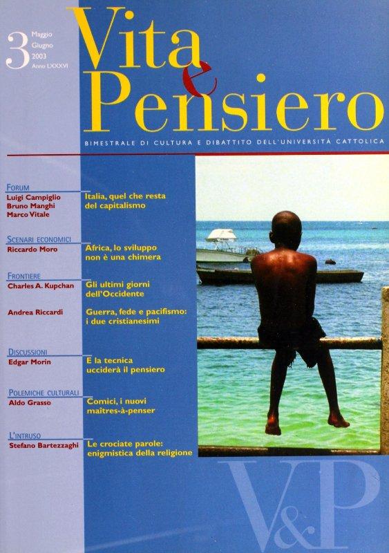 VITA E PENSIERO - 2003 - 3